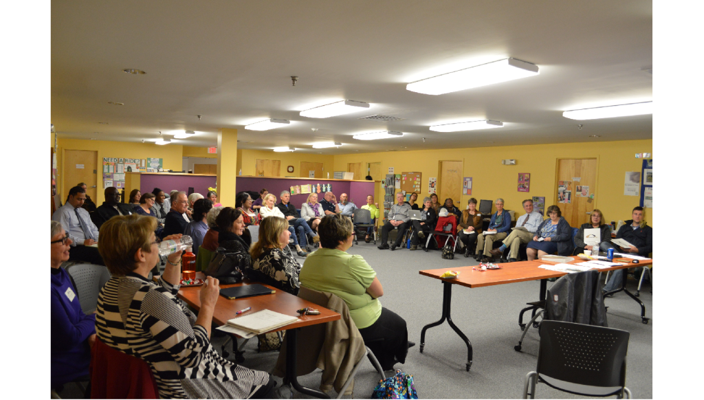 People, employers, and agencies from throughout Pittsfield attended a discussion to learn about Bridges Out of Poverty. (Dec 2015)