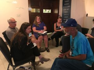 Participants discuss a Trauma Informed Berkshires
